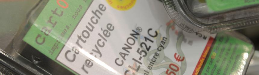 Une cartouche d'encre peut être recyclée jusqu'à 8 fois !